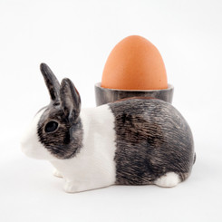 Dutch Rabbit Egg Cup grey and white
