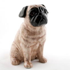 Pug Money Box Fawn