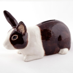 Dutch Rabbit Money Box brown/white
