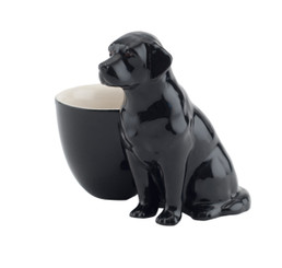 Black Labrador Egg Cup