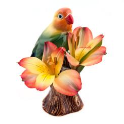 Love Bird Bud Vase Orange