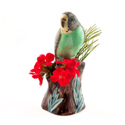 Budgerigar Bud Vase Green
