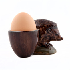 Hedgehog with egg cup