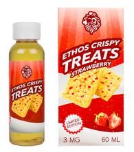 Ethos - Strawberry Crispy Treat - A delicious strawberry infused crispy treat desert. Marshmallow mashed into a rice crispy treat. A savory gooey marshmallow inhale with notes of crispy desert infused with strawberry piece.