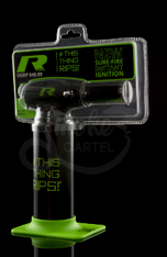 From the company that brought you the SToK FYR and Mega butane torches, and the incredible R series concentrate vaporizers, comes their new line of butane torches! Branded to match with the R Series Vape Pen, these torches look bad to the bone in green and black. These torches possess a larger sized butane tank than the FYR model, reducing how often you'll have to refill the torch. Also Comes with a Life Time warranty!