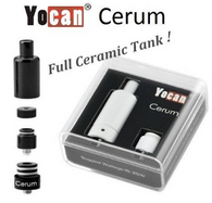 The Yocan Cerum Wax and Dry Herb Atomizer features a ceramic disk coil inside a ceramic chamber got a clean taste in an elegant package. With available dual quartz rod replacement coils the Cerum is a flexible tank that provides great flavor and Yocan quality for a real value.