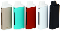 The Eleaf iCare Mini PCC All-in-One Kit is a ultra compact starter kit designed for vapers on the go or simply looking for a easy to use device. The Eleaf iCare Mini is slightly smaller in comparison to the original iCare. This kit also includes a Portable Charger Case (PCC) which features a large battery capacity of 2300mAh. The PCC is similiar to a power bank which may be used together with the iCare Mini if you require additional life. The iCare Mini is easily inserted and removed using the magnets located on the bottom of the device and PCC. The iCare Mini may be used without the PCC for ultra portability and stealth. The Eleaf iCare Mini is a throwback to the old school style automatic batteries. The iCare Mini features no buttons and is automatically activated when you inhale. The iCare Mini features maximum output wattage of 15 watts and utilizes Eleaf IC 1.1ohm atomizer heads. The iCare Mini has a built-in tank capacity of 1.3ml and also a built-in battery capacity of 320mAh. The iCare Mini and PCC may be charged using the micro USB charging port located on the bottom of the device. The Eleaf iCare Mini is simple to use and all you require is your favorite e-Liquid to get started.
