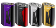 Gx350 Box Mod (Smok) $90 - The new SMOK GX350 Kit is a spectacularly powerful, full vape setup that features a powerful 350W Mod paired with the high-performing, SMOK TFV8 Cloud Beast Tank. This hard-hitting combo is designed to be an ultra compact yet incredibly powerful setup and it certainly achieves this. The mod itself utilizes a quad cell setup, powered by four 18650 batteries but it has the ability to be converted to a dual cell setup if preferred. However, despite this quad cell configuration, SMOK have managed to keep its size relatively small with the unit measuring only 84.5mm by 58mm by 40.4mm in size and sporting an angular chassis that is still comfortable to operate. When operating off quad cells specifically, this impressive device can reach a maximum power output of 350 watts but even when utilizing a dual cell configuration, users can enjoy up to 220 watts of vaping power making this one of the more powerful mods on the market. The accompanying TFV8 Cloud Beast Tank is equally matched in performance, with a 6ml juice capacity, adjustable, dual bottom airflow and patented Turbo Engines coil structure that is all designed to produce intense clouds at higher powers.