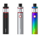 The SMOK Vape Pen PLUS Starter Kit is the larger, longer ranged edition of the Vape Pen 22 that expands the diameter to 24.5mm, increases battery life to 3000 mAh, and increases tank capacity to 4 milliliters. Measuring 24.5mm in diameter, the Vape Pen PLUS' chassis features a classic pen style form factor and packs in a 3000 mAh integrated battery charged via a side mounted Micro USB port. Output of the Vape Pen PLUS is based from a voltage based output that drives the coil accordingly to the battery state and life, featuring a suite of safety features for additional protection. The entire system is designed as an all in one platform, with the Vape Pen coil system threading directly into the chassis, positioned above two 13mm by 2mm airslots and secured via the threading located at the top cap. The Vape Pen PLUS includes two Vape Pen coils measuring 0.25 ohms in resistance and is mated to the natural output curves of the device, providing an excellent balance between flavor, vapor, and efficient use of the battery. The tank assembly is o-ring sealed and is top filled for convenience, featuring two large fill slots that allow for convenient maximum filling of the 4 milliliter tank capacity. Designed as the larger, longer range edition of the extremely popular Vape Pen 22, the SMOK Vape Pen PLUS Starter Kit is a powerful and ergonomic system that is a class leader within this price segment.