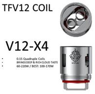 TFV12 X4 Coils $6.50 indivdual, 3 pack $19.50 0.15ohm 60-220w best 100-170w