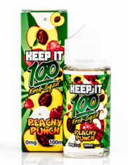 Keep it 100 - Peachy Punch – Juicy peaches, ripe apples and sweet strawberries. 70/30 VG/PG 100ml