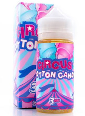 Circus E liquid - Cotton Candy - Blue and pink cotton candy. - 100ml bottle 80/20 VG PG