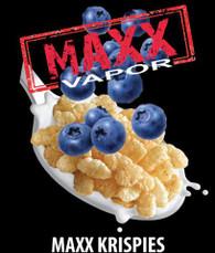 Maxx Vapor – Krispies – Blueberry rice crispy treat. 100ml bottle Max VG