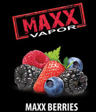 Maxx Vapor – Berries – Raspberry, strawberry, blueberry 100ml bottle Max VG