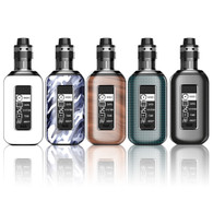 Aspire - Skystar Revvo Kit - $110 -Aspire brings you yet another great new mod and tank kit. Introducing the even more powerful, more up to date, Skystar Revvo kit. It's a dual 18650, 210 watt mod with a 1.3 inch touch screen and the revolutionary Revvo tank. Aspire has broken the mold for a tank of this type and brings you an all new concept in coils, the flat Radial coil. A coil for great vapor production and excellent flavor. The tank itself comes in a TPD compliant 2ml version and a standard 3.6ml version. It has adjustable top airflow and is top fill, it is simplicity itself to fill, change coils and even replace the glass. The tank comes in a TPD compliant 2ml version and a standard 3.6ml version. The Revvo tank is almost too easy to maintain, to disassemble and reassemble is merely unscrewing or screwing the various parts, the coil can be changed even when there is liquid in the tank. No one has yet produced such an innovative replaceable coil for a tank until now, except of course, Aspire. The fantastic all new coil design, the ARC, 'Aspire Radial Coil' which sits horizontally in the tank similar to a 'stove-top' design. Of course the real trick in the design is the increased surface area of the coil for great flavor and great vapor production, made using Kanthal material and rated at 0.10-0.16ohm. The tank has adjustable top airflow with three large air inlets to enable full enjoyment of your favorite e-liquids. Filling your new Revvo through the centre of the tank, in which sits a spring loaded filling tube. The spring of the tube is soft enough to allow even slight pressure from almost any type of bottle/glass dropper to open it, but strong enough to create a leak proof seal when released after filling. Battery installation is almost foolproof, inside there are clearly marked battery orientation markings (+ and -) and of course a securely mounted battery removal tape. When inserting the batteries, turn off the mod. Open the back panel by inserting a fingernail into the slot at the bottom and pull off the battery cover. While the mod is on, swipe down the screen twice will take the mod into its menu interface, where you can adjust the settings to your liking :modes,data,system,Time,About. The Skystar can also be charged via the Micro-USB port. When charging the screen will display 2 flashing battery icons, voltage level, charge current as well as charge time. The charging port can also be used to update the firmware.