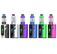 iJoy introduces their third generation of their iJoy 20700 series, the Captain X3 Triple 20700 324W Starter Kit. The Captain X3 Starter Kit integrates a triple 20700 or 18650 battery platform (batteries sold separately), alongside a chipset that is capable of running up to 324W of power-- all into a relatively compact size. The Captain X3 Box Mod utilizes a 0.96 inch color OLED screen that displays an array of essential data to the user and features a full temperature control suite. Included with the Captain X3 Box Mod is the Captain X3 Sub-Ohm Tank, a 25mm diameter tank with a slide to fill, top fill capability. The bubble tank section on the Captain X3 Sub-Ohm Tank gives it a unique look and allows for an 8ml maximum tank capacity for your favorite E-Liquids. The Captain X3 Sub-Ohm Tank utilizes the X3 series replacement coils and comes with two coil heads: a 0.4 ohm X3-C1 dual coil head and a 0.2 ohm X3-C3 sextuple coil head. Airflow enters the tank via two 14mm by 3mm airslots and a colorful 8mm bore 810 cobra resin drip allows for ample vapor intake. iJoy's Captain X3 Triple 20700 324W Starter Kit is the perfect setup for those looking for a powerful triple battery (20700 or 18650) device, paired with a high capacity and great performing sub-ohm tank!