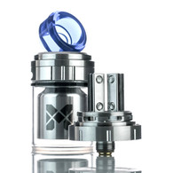 Vandy Vape's Mesh RTA is a 24mm, dual invisible clamp style postless build deck that is compatible mesh wires, a juice capacity of 2ml in it's base form and 4ml with the replacement glass tank section. Its unique dual invisible clamp style postless build deck has two 12mm terminals with side mounted screws to secure the coil leads or mesh. Airflow enters the Mesh 24mm RTA via dual adjustable top airslots that can be fully adjusted for user preference. Included with the Mesh RDA are three drip tips, one ULTEM, Resin, one Doc drip tip, and a 510 drip tip adapter. The Mesh RTA offers a unique and versatile system for a new vaping experience!