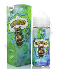 Vape Heads – Smurf Sauce – 120ml – Sweet blue raspberry and sour green apple hard candy. MAX VG
