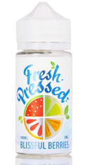Blissful Berries by Fresh Pressed E-Liquid is chilled from the inside out with frozen crushed dark berries blended with smooth lemon limeade that will knock you out cold!