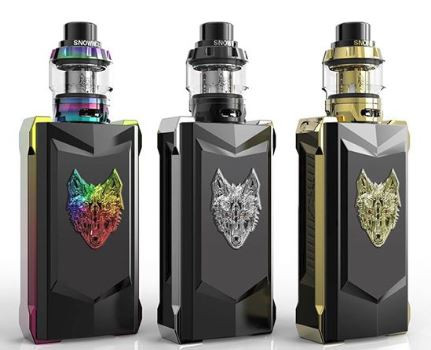 The Snowwolf Mfeng 200W TC Starter Kit Limited Edition has a high-class and luxurious exterior appearance, engraving with a supercool pattern of wolf. Powered by dual 18650 batteries, the Snowwolg Mfeng supports a max 200W output. Staying in lines with the aggressive yet futuristic design element, the Mfeng TC Kit not only offers a phenomenal high-performance output chipset within a visually-striking chassis also furnished with a 1.3-inch color TFT display screen and user-friendly UI which presents the relevant info super clearly. What's more, its various working modes(Power Modes, multitudes of customizable settings, and comprehensive temperature control suite) will satisfy your different vaping needs.