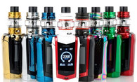 "The SMOK SPECIES 230W TC Starter Kit is the epicenter of SMOKTech's technological prowess, empowering a new 1.45"" OLED Colorful Touch Screen device with sophisticated design element to pair with the maximal mesh coils of the TFV8 Baby V2 Tank. The Species 230W Mod is the V2 or second generation of the alien creature, imposing a truly futuristic design with an upscale touch through angular lines and now-iconic cobra resin-dyed panel. The structure of the SMOK Speciesmaintains an ergonomic, vertical-based design centered around the updated 1.45"" OLED Touch Screen with newly interactive features. Maintaining the powerful performance chipset SMOK have come to known for, the Species can fire up to 230W of maximal power with preheat wattage values and full temperature suite such as TCR adjustments. The sophistication of the SMOK Species 230W Kit continues with the TFV8 Baby V2 Sub-Ohm Tank, featuring a 5mL maximum eJuice capacity, signature rotary top-fill, and massive triple bottom airslots. The crowning achievement lies within the hyper engines of the TFV8 V2 Coil Family, including a 0.17ohm Baby V2 A1 Single Coil with a large piece of mesh covering the cotton and a rating range of 90W to 140W. Each full set-up also comes with the 0.2ohm Baby A2 Dual Coil with two heating cores and a wattage setting of 50W to 80W. Destined to be one of the most desirable showcase of the year, the SMOK Species 230W Starter Kit absolutely lives up to its ""Creature V2"" name and truly is out of this world."