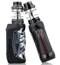 The Geek Vape Aegis Mini 80W Starter Kit deploys a miniature version of the popular Aegis 100W, presenting integrated 2200mAh rechargeable battery and advanced AS chipset within an ultra-durable and rugged chassis to pair with the Cerberus Tank.