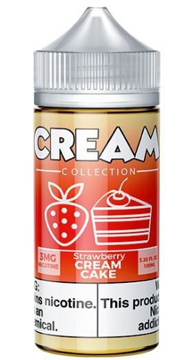 Creamy vanilla cake topped with fresh strawberries, no need for dessert with this flavor.