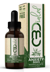500mg/bottle –16.7mg/1mL serving  CBDialed's 500mg Anxiety Tincture has its own unique blend of plant-based terpenes, hemp-derived broad spectrum CBD and organic MCT oil. Intended to aid in the relief of stresses and anxious behaviors as well as provide a calming effect on the body and mind.