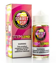 A strong delicious taste of strawberries on the inhale and a citrus taste of lemons on the exhale with a scoop of sorbet