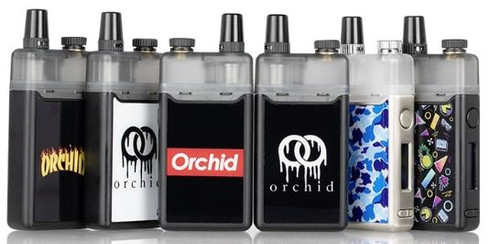 The Orchid Vape x Squid Industries Orchid 30W Pod System is a small compact luxurious vaping system, integrating a capacious 950mAh rechargeable battery, a comprehensive temperature control suite, and features a specialized pod option for freebase or nicotine salts.