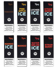 Hyde - Disposable Singles  Disposable Pod Vape Pens. Easy to use, incredible flavors.  Capacity: 1.6mL  Battery Capacity: 380mAh  Nicotine: 50mg  8 Flavors available:  Mango  Mango Ice  Strawberry  Strawberry Ice  Lychee Ice  Pineapple Ice  Tobacco  Watermelon Ice