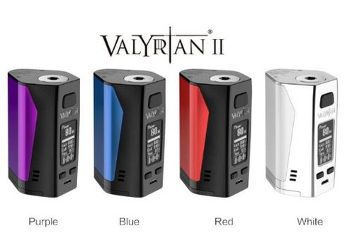 Uwell Valyrian II Box Mod  E V O L U T I O N   O F   R E V O L U T I O N .  Introducing the Valyrian II Mod from Uwell, a triple 18650 battery mod with a max wattage of 300W. Each battery has a separate chamber making the mod safer to use. Smaller than most triple battery mods, it has an ergonomic design for a comfortable grip. Reliable performance and fast firing (0.008s) from the new PCBA of Uwell.  Mod Specifications:  Material: Zinc Alloy, PC+ABS & Stainless Steel  Size: 49mm x 41mm x 74mm  Net Weight: 148g  Power Range: 5-300W  Standby Current: <100uA  Voltage Range: 0.7-10V  Resistance Range: 0.1-3Ω (VW) 0.1-1Ω (TC)  Temperature Range: 200-600°F / 100-315°C  TRIPLE THE POWER - Compact triple battery mod - looks elegant, feels comfortable. Three 18650 batteries give the kit a maximum 300W output. Give more possibilities to the cloud chaser. Each cell has a separate battery chamber, makes the mod even more safe to use.   NEXT-GEN CIRCUIT BOARD DESIGN - New PCBA offers reliable performance and fast firing capabilities. It is also more dust and corrosion resistant, prolongs the product life, and protects user safeties.   Box Contents:  1 x Valyrian II Mod  1 x Micro USB Cable  1 x User Manual