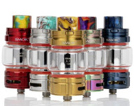 Introducing the latest and greatest achievement from SMOK is their BIGGEST diameter, LARGEST juice capacity, mesh coil cloud-kicking TFV16 Sub-Ohm Tank, marking the Return of the King. Clocking in at 32mm diameter, the SMOK TFV16, is known as the 'Return of the King', creating huge densely flavored clouds of vapor with the meshed coil heads, 9mL juice capacity, and increased airflow capability. Raising the base of the atomizer, the TFV16 Sub-Ohm tank possesses a dual slotted airflow control ring, improving the airflow section to increase the airflow chamber and the size of the inlets to 14mm by 2.6mm. This guides airflow past the internal coil structure to create the bountiful clouds that the TFV Tank Series is famously known for. Coils are installed in a plug 'n' play fashion, keeping coil changes, quick, succinct, and mess-free. A locking top fill system prevents children or adolescents from using the tank, while keeping the rotating top fill system to remain clean of leaky eJuice. Holding up to 9mL of today's most popular eJuice, the TFV16 is the largest capacity and diameter sub-ohm tank, created by SMOK, truly and royally heralding the Return of the King.