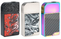 Product Features:  Premium zinc-alloy construction.  Unique interchangeable side panels.  Adjustable airflow.  Can use nic salt or standard E-liquid.  Product Specifications:  Battery: 950 mAh  Pod Capacity: 2 ml  Modes: Power, SS, TC  In the package:  1 x Purge Ally Device