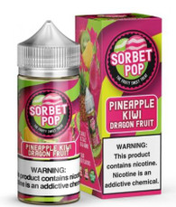 A perfect blend of pineapple kiwi dragon fruit sorbet.