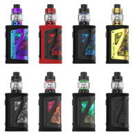 SmokTech SCAR-18 Kit  B O R N   F O R   P E R F O R M A N C E .  Lighting up new possibilities among box mods as the SCAR-18 becomes synonymous with power and performance. It is driven by the latest chipset IQ-X with stable output and outstanding efficiency. The mod utilizes dual 18650 batteries (not included) to provide a maximum power of 230W. The newly developed TFV9 Tank comes with two V9 Meshed 0.15Ω coils that are designed for sub-ohm vaping for clouds chasers.  Innovation keeps changing the vaping experience!  Powerful TFV9 Tank - V9 Meshed Coil  IP67 - Waterproof, Dust-proof, Shockproof  Dual 18650 Balance Charging  TOUCH THE ART --- FEEL THE POWER - The SCAR-18 Mod is meticulously designed to be powerful and portable. Its compact design contributes a stylish and delicate look, while the leather and zinc alloy frame, that wrap that body ergonomically, fit your hand. The soft leather and hard metal form and impenetrable armor to protect against external intrusion.  NEW LEVEL OF PROFESSIONAL PERFORMANCE - With the intelligent onboard chipset IQ-X and fully upgraded components, SCAR-18 is built to provide all the horsepower you need. Four modes are provided to meet different requirements for effects, flavor, and clouds.  SCAR-18 Mod Specifications:  Size: 54mm x 30.6mm x 88mm  Weight: 183.5g  Output Wattage: 1-230W (VW) / 10-230W (TC)  Standby Current: <300uA  Input Voltage: 6.4-8.4V±0.2V  Output Voltage: 0.5-8.0V  Charging Voltage: 5V±0.2V  Charging Current: MAX 1.3A  Resistance Range: 0.10Ω-2.5Ω (VW) / 0.05Ω-2.00Ω (TC)  Temperature Range: 200°F-600°F / 100°C-315°C  MULTIPLE MODES FOR DIVERSIFIED FLAVOR - Supports precise temperature regulation of Nickel, Titanium, and Stainless Steel. This allows users to adjust the TCR (temperature sufficient of resistance) value of heating wires to customize the preferred taste.  230W MAX POWER OUTPUT - Powered by two external 18650 batteries, the SCAR-18 can reach up to a maximum output of 230W.  SPLASHES, SPRAYS, SPILLS? NO WORRIES - SCAR-18 is IP67 waterproof which can withstand water immersion between 15cm and 1 meter for 30 minutes. It's also dust-proof and shockproof to prevent dust ingress and accidental drops.  TFV9 Tank Specifications:   Material: Stainless Steel  Size: 28mm x 56mm  Weight: 62g  Capacity: 6.5mL  Thread: 510  TFV9 CHILDPROOF TOP CAP FOR INCREASED SAFETY - The locking mechanism of the top cap adopts the lift-and-open method to keep children away from possible ingestion. The design can also effectively prevent accidental opening of the top cap and leakage of the e-liquid.  LARGE 6.5ML E-LIQUID CAPACITY - The TFV9 Tank uses Pyrex Glass Tube #1, measuring 28mm in diameter with a large e-liquid capacity of 6.5mL. Long-term vaping enjoyment can be achieved as there is no need to frequently refill.  TOP REFILL SYSTEM - The TFV9 Tank features a slide-to-fill system for simple and secure e-liquid refills. The leak-proof slot can significantly solve the leakage problem.  MASSIVE VAPOR, GREAT FLAVOR - The large refill slot and central airflow tube make refilling more convenient and helps to obtain massive clouds of vapor and excellent taste. The direct airflow can also be adjusted freely by turning the ring at the base of the tank.  V9 MESHED 0.15Ω COIL - The V9 Meshed Coil is made of Kanthal and features a large heating contact surface area to produce huge clouds and superb flavor with less heat time.  Material: Kanthal  Strong Power & Huge Vapor Production  Resistance: 0.15Ω  Wattage: 40W-90W  GOLD-PLATED 510 THREADED CONNECTOR - The TFV9 Tank uses a gold-plated pin to increase rub resistance and strengthen electrical conductivity, so the connector can maintain its original appearance even if it is reused. What's more, you can a better experience when connecting the tank to the mod.  MULTIPLE PROTECTIONS - The SCAR-18 provides multiple types of protections to avoid potential risks. A self-adaptive power output functionality has been added to ensure a constant power output during vaping. Protections include intelligent atomizer recognition, puff monitoring system, 8 second cut-off, short-circuit protection, over-heating protection, and low battery warning.  Kit Includes:  1 x SCAR-18 Mod  1 x TFV9 Tank (6.5mL)  1 x V9 Meshed 0.15Ω Coil (pre-installed)  1 x V9 Meshed 0.15Ω Coil  1 x Replacement Glass Tube  1 x USB Cable  1 x User Manual