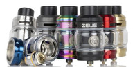 The Geek Vape ZEUS Sub-Ohm Tank is the latest rendition of the highly acclaimed Zeus lineage, utilizing a brand-new Z Mesh Coil System with simple plug-pull coil installation alongside a leak-proof dynamic top-airflow design.