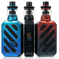 """Check out the Uwell CROWN 5 V 200W Starter Kit, paired with the CROWN 5 Sub-Ohm Tank, temperature control suite, and accepts two 18650 batteries (not included). Dimensions - 86.2mm by 53mm by 26.2mm Dual High-Amp 18650 Batteries - Not Included Max Wattage Output: 200W Voltage Output Range: 0.7-8.0V Resistance Range - VW: 0.1-3.0ohm Resistance Range - TC: 0.1-1.0ohm Temperature Range: 200-600 °F / 100-315 °C Nickel, Titanium, and Stainless Steel Wire Compatibility Power Mode TCR Mode Zinc-Alloy Chassis Construction Intuitive Firing Button 0.96"""" TFT Color Screen Two Adjustment Buttons Threaded 510 Connection Available in Blue, Black, Red"""