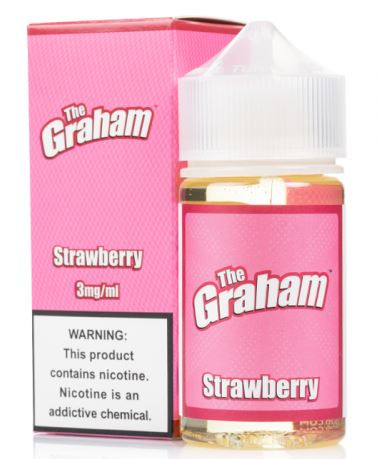 Sweet honey touched graham cracker topped with sweet strawberries.
