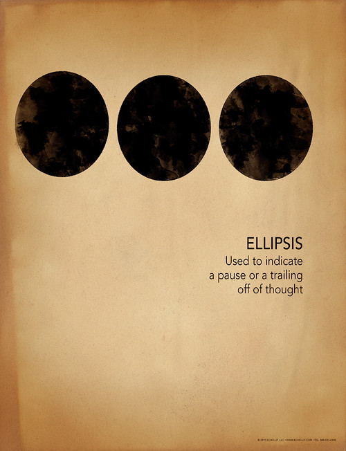 Ellipsis Grammar Punctuation And Writing Poster Echo Lit