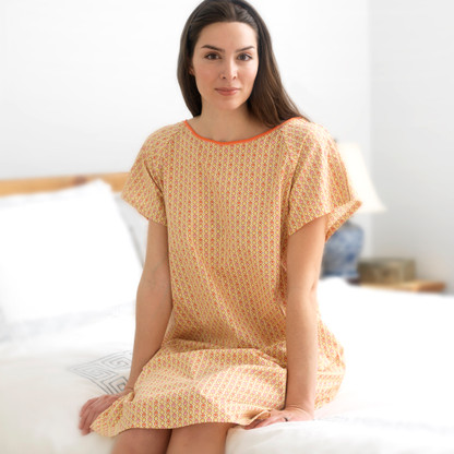 Ruby Hospital Gown - Front