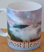 Twilight Candle Shop custom scented soy candle in West Virginia Clouds Mug