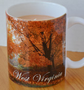 The only mug in this design we have left is lemon scented.  The wax is colored yellow.