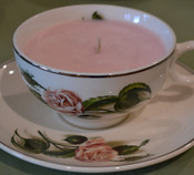 Rose Teacup Soy Candle, rose scent