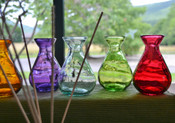 Teardrop Jar Reed Diffuser Kit, made in Spain from recycled glass
