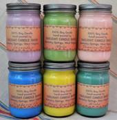 Mason Jar Soy Candle (12oz) custom scent