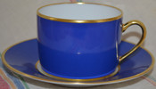 Limoges demitasse gold-rimmed cup will custom pour as soy candle, your choice of scent