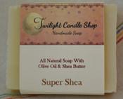 Handmade Natural Soap, Super Shea, unscented