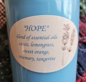 Essential oils soy wax candle, 8 oz mason jar with screw top lid