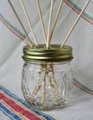 Embossed Mason Jar Reed Diffuser Kit, with fragrance oil choice